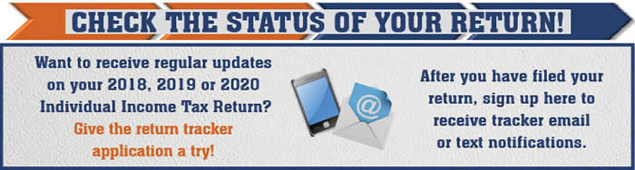 Check the status of your tax return