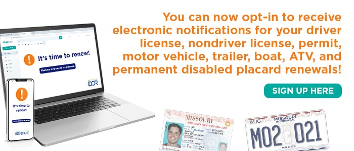 Opt-in to receive electronic notifications for your renewals
