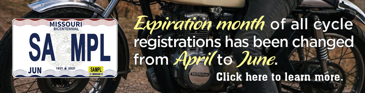 Expiration month of all cycle registrations has been changed from April to June