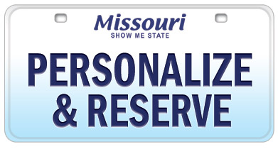 Personalize and Reserve your new License Plate Online!