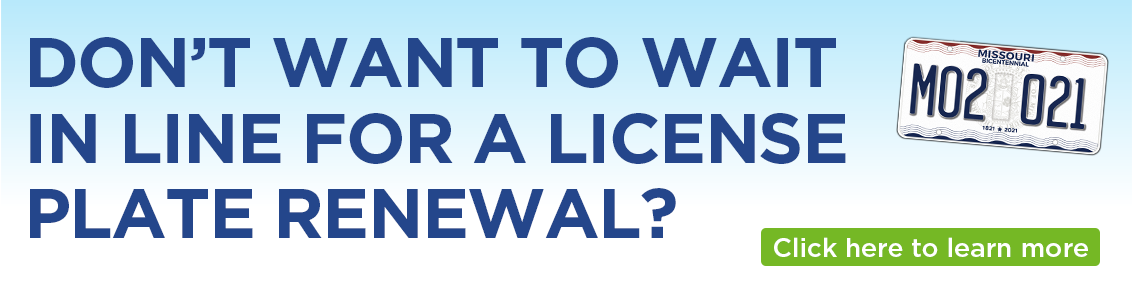 Don't Want to Wait in Line for a License Plate Renewal?