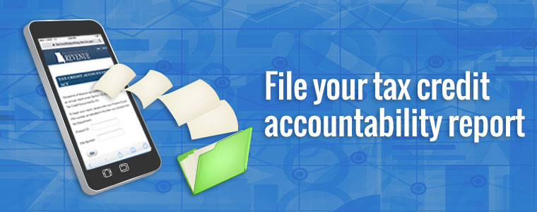File your tax credit accountability report.